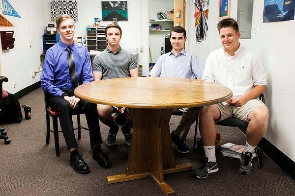 JOED VIERA/STAFF PHOTOGRAPHER-Lockport, NY-Derek Jaques, Joe DiBenedetto, Patrick Sheelarall and Benjamin Schwab, all Royalton High School juniors, will join students from across the state in the American Legion's Boys State program.