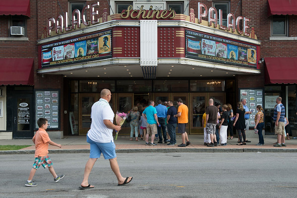 JOED VIERA/STAFF PHOTOGRAPHER- Parents, participants and patrons line up outside the Palace Theatre for Dyan Mulvey's annual dance recital