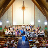JOED VIERA/STAFF PHOTOGRAPHER-North Park Chorus students perform alongside the Lockport Chorale during the Strawberry Festival at Christ Episcopal Church.