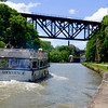JOED VIERA/STAFF PHOTOGRAPHER-Lockport, NY-The Lockview V passes by Upson Park towards the Upside-Down Bridge.