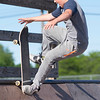 JOED VIERA/STAFF PHOTOGRAPHER-Lockport, NY-Christian Bennett, 12 rides a ramp at Lockport's Skate Park.