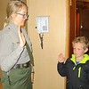 ZACHARY SECURES YET ANOTHER JUNIOR RANGER BADGE