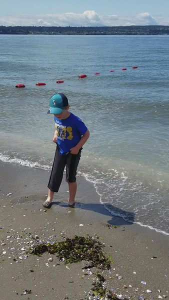 VIDEO: ZACHARY AT BEACH IN STANLEY PARK. MESSIN' WITH GRANDMA!