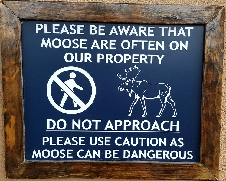 SIGN ON OUR HOTEL IN ANCHORAGE