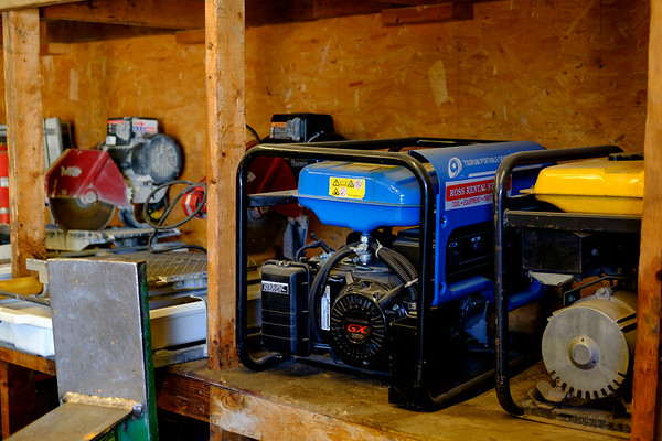 JOED VIERA/STAFF PHOTOGRAPHER-Generators sit on a shelf at Ross Rental. The Rental shop is celebrating it's 25th anniversary.