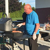 CONTRIBUTED PHOTO-Peter Stutz, a Lighthouse Optimist member, donates his time on Tuesdays and Thurdays to cook hot dogs for the soccer league.
