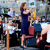 Lt. Governor Kathy Hochul conducts the Albany Symphony as they play Stars and Stripes Forever during their final Water Music New York concert inside Lock 35 of the Erie Canal on Saturday, July 8th, 2017 in Lockport N.Y.  The Symphony performed seven concerts in as many days across New York State to celebrate the Canal's Bicentennial. (Joed Viera/Lockport Union-Sun & Journal)