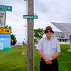 JOED VIERA/STAFF PHOTOGRAPHER-Somerset resident and Lighthouse Wind Project supporter Joseph Fox, stands outside his Somerset Drive home. Fox, a proponent of renewable energy owns multiple solar panels on his properties.