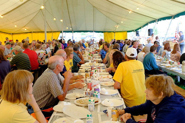 JOED VIERA/STAFF PHOTOGRAPHER-Turnout was high at the annual Farmers Breakfast at the Niagara County Fair.