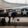 "JOED VIERA/STAFF PHOTOGRAPHER-Jim Lawrence helps Roy Phillips, a WW2 veteran, who served in the 457th Anti-Aircraft Artillery Battalion, onto the Madras Maiden, a WW2 era B-17 ""Flying Fortress"" outside of Prior Aviation at the Buffalo International Airport in Buffalo N.Y. on Monday, Aug. 7, 2017. . Although Phillips never flew on a B-17 during the War, he claims to have seen thousands of the aircrafts in flight while stationed as a gunner in France during the Battle of the Falaise Gap. Tours and flights on the Maiden are available to the public at Prior Aviation FBO on August 12th and 13th."