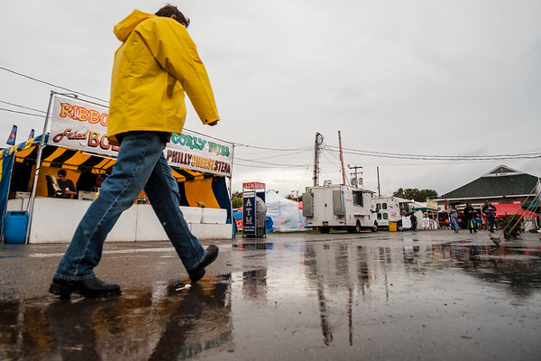 JOED VIERA/STAFF PHOTOGRAPHER- Rain pours down during the Niagara County Fair.