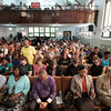 People pray at Durham Memorial A.M.E. Zion Church in Buffalo, N.Y.  during a vigil held for Heather Heyer, Lieutenant H. Jay Cullen and Trooper Berke M. M. Bates on Wednesday, Aug. 16, 2017.(Joed Viera/Lockport Union-Sun & Journal)