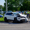 JOED VIERA/STAFF PHOTOGRAPHER-The scene of a two car accident on Lockport-Olcott Road.