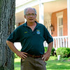 JOED VIERA/STAFF PHOTOGRAPHER-Newfane Town Histrian Bill Clark outside of the Van Horn Mansion.