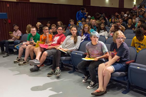 Joed Viera/Staff Photographer- New freshman attend orientation at Lockport High School.