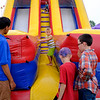 JOED VIERA/STAFF PHOTOGRAPHER-Kids take a ride on a slide at the Niagara County Fair.