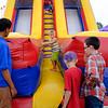 JOED VIERA/STAFF PHOTOGRAPHER-Kids take a ride on a slide at the Niagara County Fair.