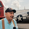 "JOED VIERA/STAFF PHOTOGRAPHER-Roy Phillips, a WW2 Army veteran, who served in the 457th Anti-Aircraft Artillery Battalion, before flying in the Madras Maiden, a WW2-era B-17 ""Flying Fortress."" parked outside of Prior Aviation at the Buffalo International Airport in Buffalo N.Y. on Monday, Aug. 7, 2017. Although Phillips never flew on a B-17 during the War, he claims to have seen thousands of the aircrafts in flight while stationed as a gunner in France during the Battle of the Falaise Gap. Tours and flights on the Maiden are available to the public at Prior Aviation FBO on August 12th and 13th."
