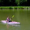 JOED VIERA/STAFF PHOTOGRAPHER-Lockport, NY-Erin Schneckenberger Kayaks along the Canal with her dog Rosie.