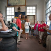 JOED VIERA/STAFF PHOTOGRAPHER-Mayor Anne McCaffrey joins the Locks District Heritage Corp board members for a meeting at the Erie Canal Museum by the Flight of Five to discuss renovation plans.