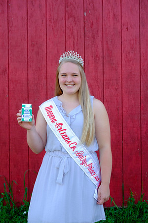 JOED VIERA/STAFF PHOTOGRAPHER-Erica Vanburen, 18, is this year's Niagara-Orleans County Dairy Princess.