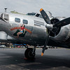 "JOED VIERA/STAFF PHOTOGRAPHER-The Madras Maiden, a WW2 era B-17 ""Flying Fortress"" parked outside of Prior Aviation at the Buffalo International Airport in Buffalo N.Y. on Monday, Aug. 7, 2017. Tours and flights on the Maiden are available to the public at on August 12 and 13."