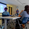 JOED VIERA/STAFF PHOTOGRAPHER-George Southard Teacher speaks tells teachers attending a STEAM Conference Workshop about Go Noodle, an online program.