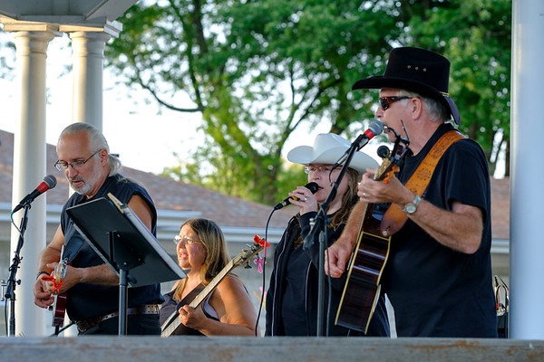 JOED VIERA/STAFF PHOTOGRAPHER- Creekside Classic Country Band plays the final Newfane Gazzebo concert of the season.