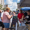 Joed Viera/Staff Photographer-Patrons queue up at Steak Stone and Sushi ath this year's Taste of Lockport.