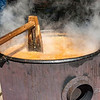 Ed Goodnight-Chowder is churned during Wilson's Field Days.