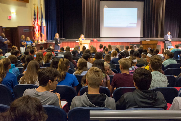 Joed Viera/Staff Photographer- New freshman attend orientation at Lockport High School.