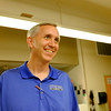 JOED VIERA/STAFF PHOTOGRAPHER-Game Changers Program director Daemen college basketball coach Mike MacDonald enjoys himself during the last day.