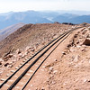 View of the cog railway on Pikes Peak.