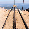 View of the cog railway on Pikes Peak.