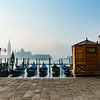 Joed Viera/Staff Photographer- Gondollas float in front of Piazza San Marco in Venice.