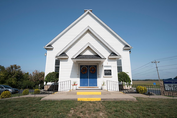 Joed Viera/Staff Photographer- <br /> Cambria Congregational Church is celebrating 200 years of existance. The church which was originally erected in 1836 burned down to it's foundation and was rebuilt in 1930.