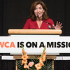 Joed Viera/Staff Photographer- Lt Governor Kathy Hochul delivers a speech at the begining of the YWCA of The Niagara Frontier's 2017 Niagara Awards.