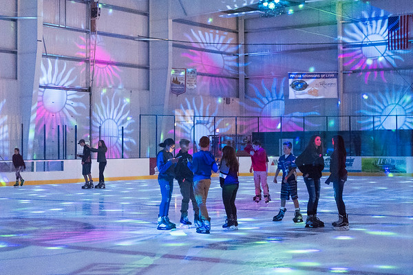 Joed Viera/Staff Photographer- The Ice Cream Jam at Cornerstone Arena featured a new state-of-the-art laser light show for guests to skate to.
