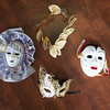 Joed Viera/Staff Photographer-  Some of Marion Hannigans Venetian masquerade masks.