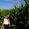 Joed Viera/Staff Photographer-Operator Kate Surdej walks through the Cabria Corn Maze.