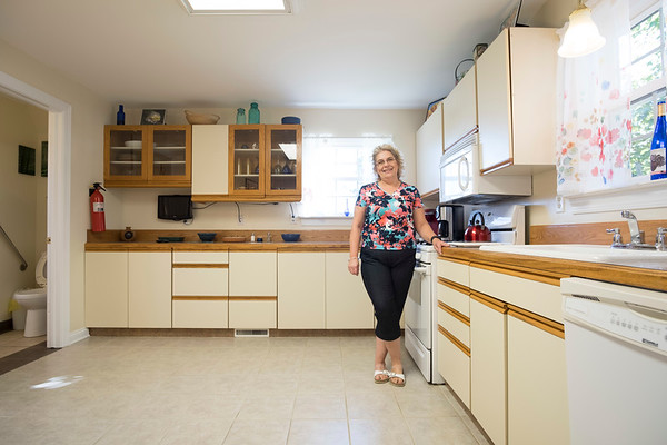 Joed Viera/Staff Photographer- Evelyn Buffone shows off her Cambria tourist home.