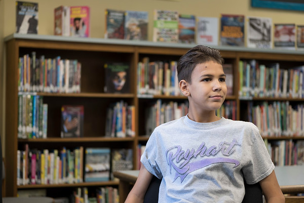 Joed Viera/Staff Photographer-Royalton Freshman Jaivier  Rodriguez, 14, is a 4 time Rachel's Challenge Award winner.
