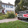 Joed Viera/Staff Photographer-   A sign opposing the constitutional convention sits on the lawn outside of a Grasmere Road Home.