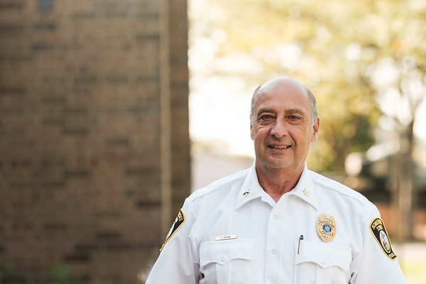 Joed Viera/Staff Photographer-Somerset's outgoing Town Police chief John Yotter outside of Somerset Town Hall.