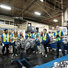 Joed Viera/Staff Photographer-Lockport High School Students learn about engines at GM's Lockport component holdings plant during a Manufacturing Week event.