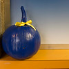 Joed Viera/Staff Photographer- Over 30 Pumpkins painted blue have been placed throughout One Locks plaza in memorial of Buffalo K9 Officer Craig Lehner.