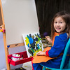 Cerie painting her masterpiece.