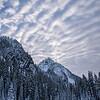 Lane Peak and a Mackerel sky