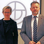 Minister Viglundsson with Director General Tiina Astola