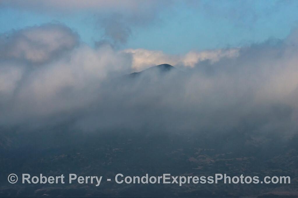 Diablo Peak - Santa Cruz Island - high fog